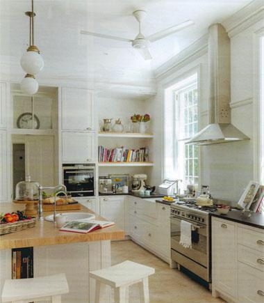 """A modern country kitchen succesfully marries period detailing with pared-down lines"""