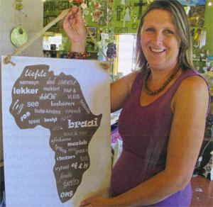 Annelie Bester is co-owner of Kontrei Sisters, a coffee shop that also sells local arts and crafts, including her own cutouts