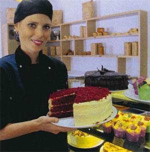 Chef Alta Eybers of La Bella Deli & Restaurant bakes the most awesome red velvet cake
