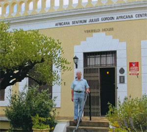 : Curator Johan La'Grange outside the historic Versfeid House, home of the Julius Gordon Africana Centre.