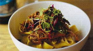 Devil's Peak IPA-braised short rib of beef pappardelle with gremolata