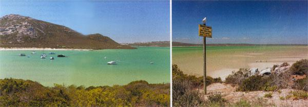 Self-catering houseboa1.  ts at Kraalbaai in the West Coast National Park. 2. View across the lagoon from Kraalbaai.