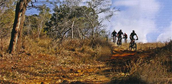 The iSimangaliso MTB 4 Day follows ancient animal migration parths many through areas not normally open to the public