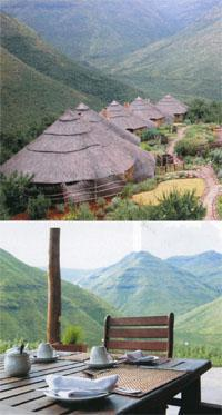 Maliba Lodge, Lesotho - Relax with a view of rolling green mountains