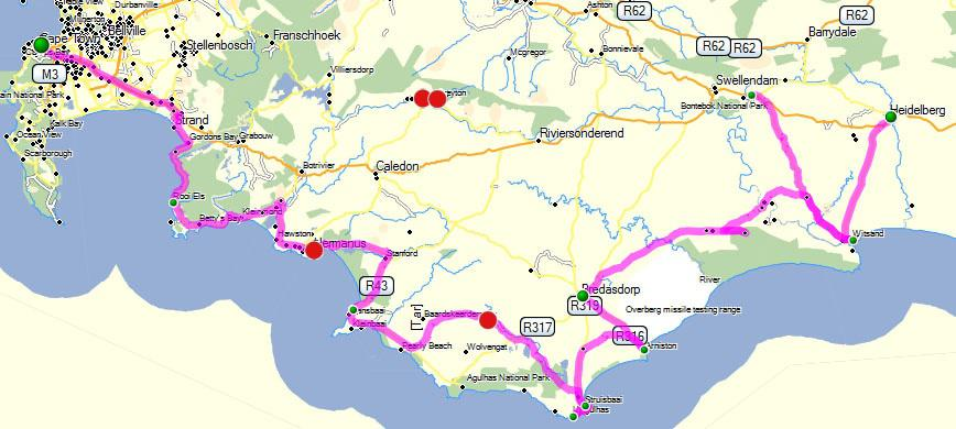 Self drive route 3 whale route south africa - Drive from port elizabeth to cape town ...