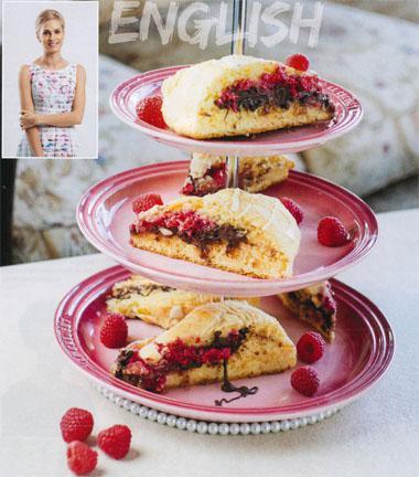 English - Taryn Das Neves - Rasberry hazelnut and chocolate scones