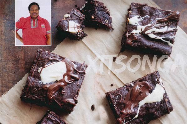 Xitsonga - Nyeleti Nkuna. - Peanut black Bean and Groundnut Chocolate Brownies