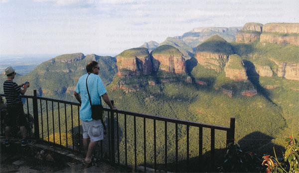 Plan to spend time at the spectacular Three Rondavels. It is wise to be a little careful at the view sites as it's a long way down.