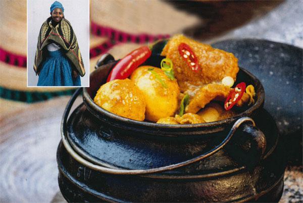 Sesotho - Mmasibidi Setaka - Spicy tribe with maize-meal dumplings