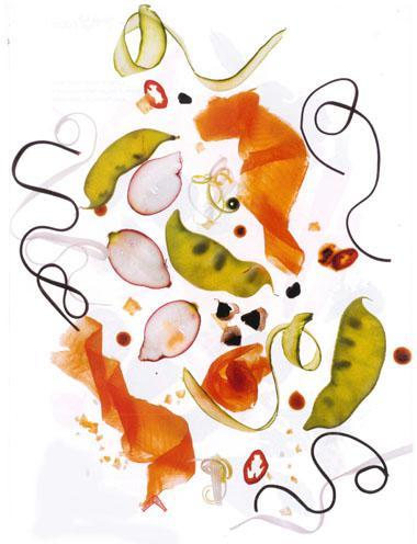 Asian salmon noodle salad