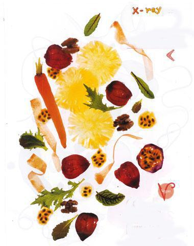 Carrot, baby beet and pineapple salad with, walnuts and tropical dressing