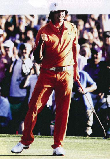 Rickie Fowler won both of his professional titles to date by beating Rory Mcllroy, once by six shots and the second time in a playoff.