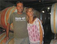 Winemaker Meyer Joubert and his wife Beate who runs the alfresco deli and restaurant at Joubert- Tradauw Vineyards & Cellar.