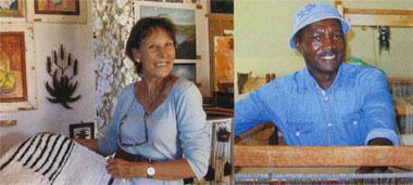 Carol Morris is the driving force behind Barrydale Hand Weavers and MUD Gallery. Expert weaver Tivane Mavume helped start Barrydale Hand Weavers.