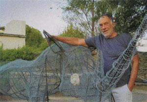 Artist extraordinaire Nigel Hewett's sculpture of a rhino will be completed with a covering of ferrous cement once it's found a home at a game lodge.