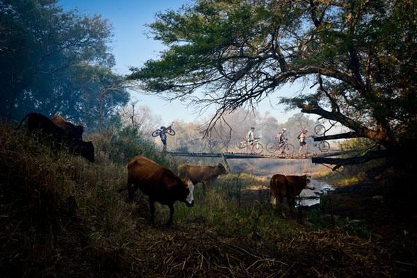 Mountain biking through iSimangaliso