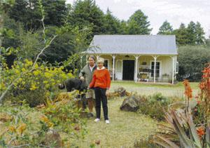 Andrew and Marion Jardine built the corrugated Settler's Cottage that houses their Dirt Road store in Curry's Post.