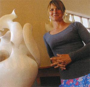 Astrid Dahl is renowned locally and abroad for her bone-white silken ceramic art