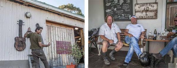 The Shuntin Shed. Amongst many visitors to Bot Rivier, bikers love stopping over on their breakfast runs on the way on to Hermanus or other places in the Overberg