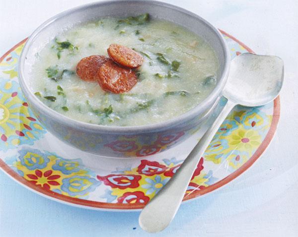 Caldo verde (kale soup)
