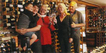 Family firm, left to right: Ryan and Sarah Adam, Clare Beith, Margie and Warwick SpowartatThe Wine Cellar