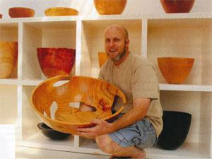 Award-winning wood artist, Andrew Early, has received international acclaim for his work