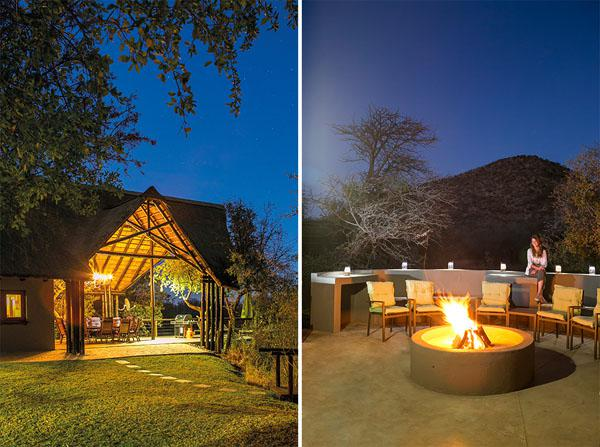 Evening at Thaba Lodge.