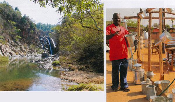 Mantenga Waterfall in Mantenga Nature Reserve is the second highest fall in Swaziland.  Arson, a metalworker, behind the Mahlanya Fresh Produce Market can manufacture anything out of tin.