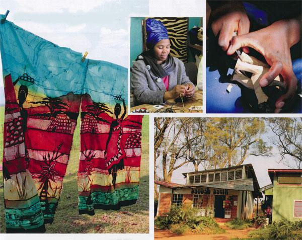 The batiks are hung out to dry alongside the sugar-cane fields. Each basket at Gone Rural is checked and finished.  Look out for the wood carvers at Swazi Candles. Swazi Candles Craft Centre has a number of interesting things to see