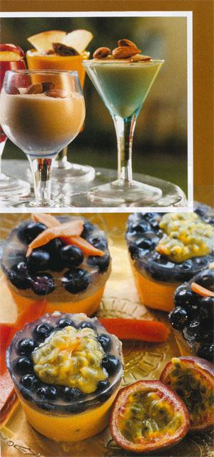 Blueberry granadilla and papaya lassi mini cheesecakes
