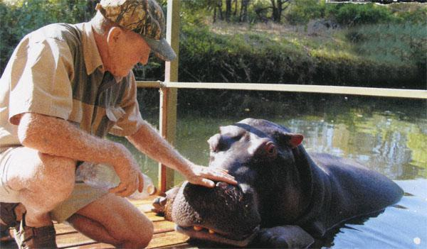 Tonie Joubert loves Jessica the hippo like a child
