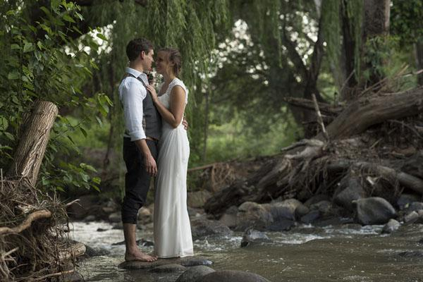A lovely wedding shot shared via Wi-Fi onto Instagram.