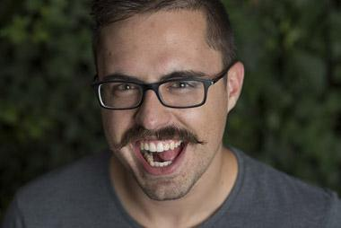 Movember portrait shared via Wi-Fi.