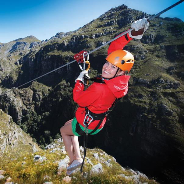 High on life - canopy tour near Cape Town