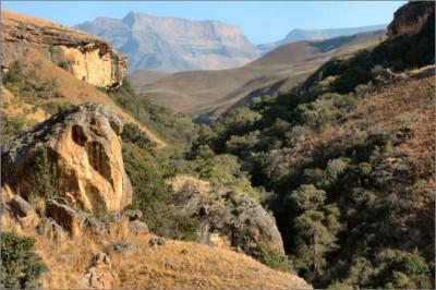 Hiking the drakensberg
