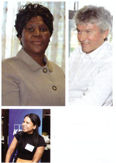 Vice chancellor Xoliswa Mtose; Professor Neil Garrod; CFO Josephine Naicker; and the view across the development