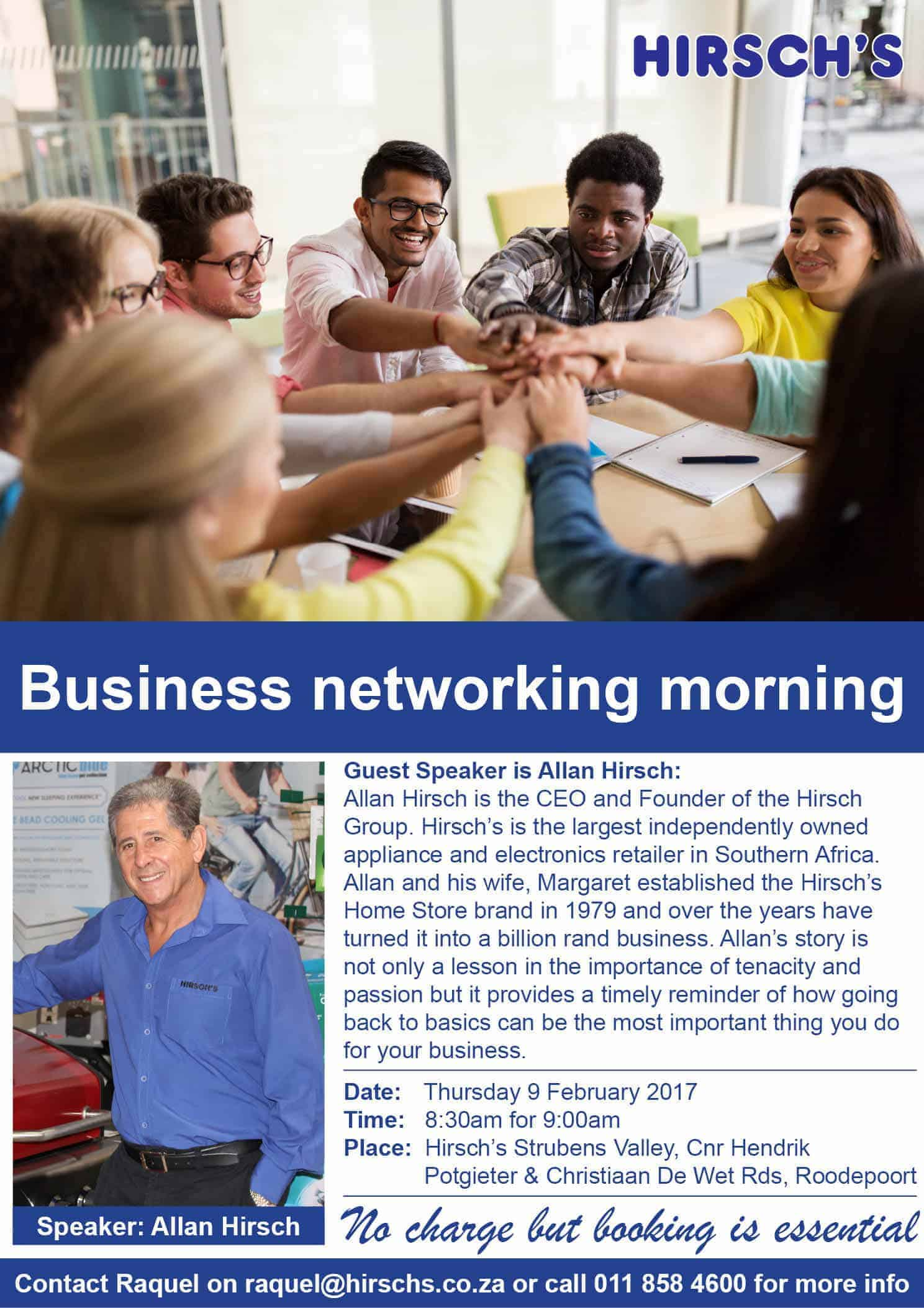 Hirschs Business Networking Morning South Africa
