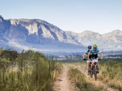 Caption: Mountain bikers will face exciting trails with spectacular backdrops when they compete in the multi-stage Liberty Winelands Encounter in April. Photo: Ewald Sadie