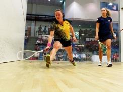 CAPTION: University of Johannesburg squash star Alexa Pienaar achieved one of her goals by winning the individual title at the University Sport South Africa tournament in Johannesburg this month. Photo: Supplied