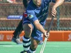 Caption: Madibaz midfielder Kirwin Christoffels was one of the star performers in the hockey team's silver medal performance at the University Sport South Africa tournament in Johannesburg. Photo: Saspa