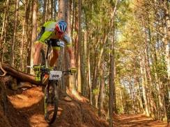 CAPTION: It was a family affair at the third round of the Madibaz XCO Series as brothers Matthys (pictured) and Gerrie Beukes won their age categories on Sunday. Photo: Chris Brooke