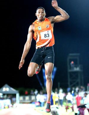 CAPTION: University of Johannesburg long jumper Ruswahl Samaai has reached new heights with a bronze medal at the IAAF World Championships in London. Photo: Saspa