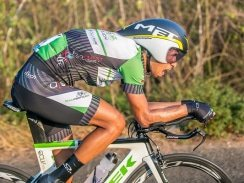 Caption: ProTouch's Jayde Julius, pictured here during the time-trial on day one, joined an early breakaway and held on to win stage two of the Bestmed Jock Tour in Mbombela today. Photo: Memories4U Photography