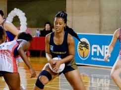 Caption: Madibaz's Nolusindiso Twani, who will be in action against North-West University in Port Elizabeth on Monday, has earned several best shot awards during this year's Varsity Netball tournament. Photo: Asem Engage