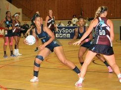 CAPTION: Madibaz goal shooter Nolusindiso Twani said the Madibaz would give their all in their last Varsity Netball match of the season against Stellenbosch University. Photo: Full Stop Communications