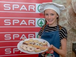 Caption: SPAR Junior Cook winner Jessica Brown presents a beautiful plate of ginger cookies as her final dish of the day. Photo: Leon Hugo