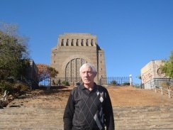 CAPTION: Tshwane Classic race spokesman Mauritz Meyer stands in front of the Voortrekker Monument, which will be the start and finish venue for the 98km road classic on November 5. Photo: Supplied