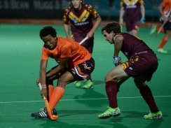 CAPTION: University of Johannesburg hockey star Tyson Dlungwana has set his sights on keeping his place in the national squad for the Commonwealth Games and World Cup next year. Photo: Saspa