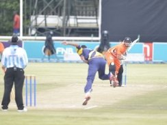 CAPTION: University of Johannesburg batsman Delano Potgieter faces up to a delivery in a Varsity Cricket match. Potgieter is part of the UJ squad which will be contesting the 2018 tournament, starting in Potchefstroom on Monday. Photo: Mario van der Waal/Saspa