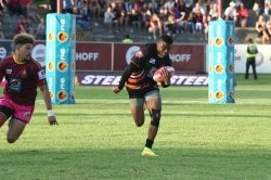 Caption: Former University of Johannesburg rugby star Aphiwe Dyantyi has reached the highest level by being included in the Springbok squad for the June internationals against United States and England. Picture: Saspa